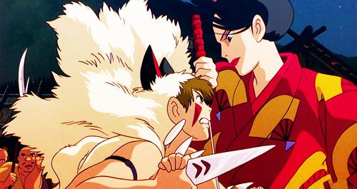 Princess Mononoke Lady Eboshi fight