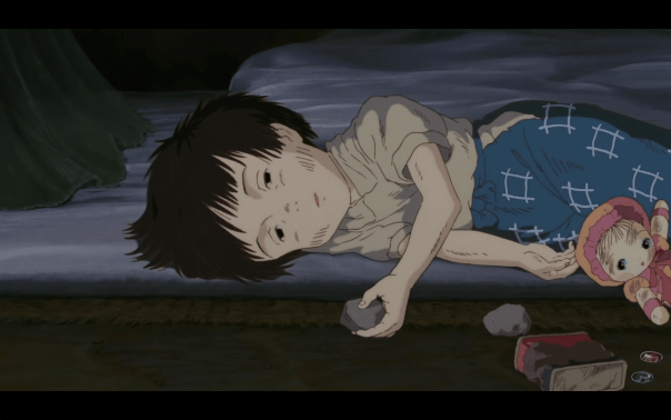 grave-of-the-fireflies-setsuko-rocks