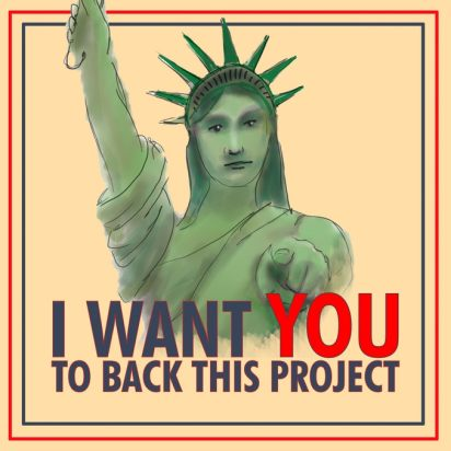 Postcards Against Fascism - I want YOU to Back this Project