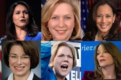 Tulsi Gabbard, Kirsten Gillibrand, Kamala Harris, Amy Klobuchar, Elizabeth Warren, Marianne Williamson