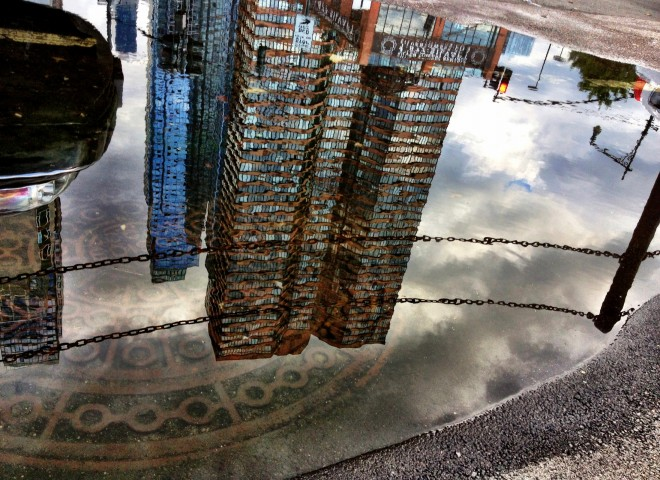 A puddle in New York