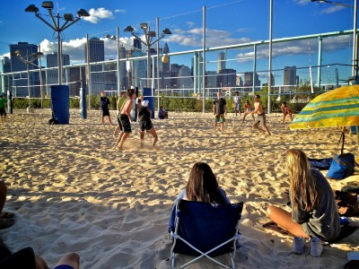 Playing Beach Volleybal in New York