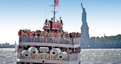 Full ship near Lady Liberty