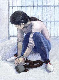 坐水盆扣地環:犯人掐被扣者腋窩、乳房、大腿等