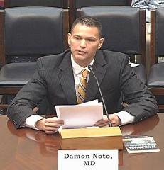 反對強制摘取器官醫生組織發言人達蒙•諾托