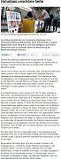 《法蘭克福眺望報》於二零一二年九月十日報導法輪功學員在德國伯烏爾澤爾市揭露中共迫害法輪功。