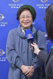 台灣國際達克羅士音樂節奏教學法研究會常務理事劉蘭姝在接受採訪。