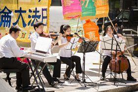 紐約曼哈頓富利廣場表演弦樂四重奏