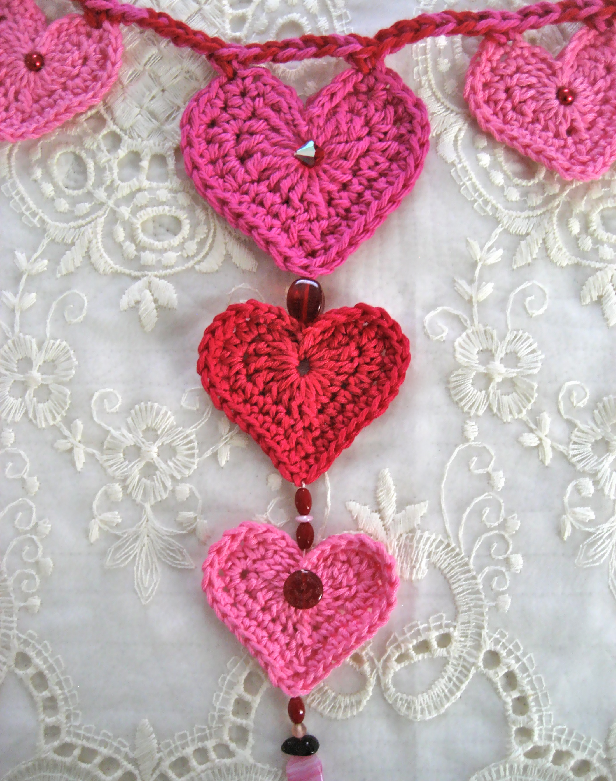 Valentine S Day Crochet Heart Garland