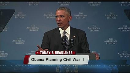 obama leading america to new civil war