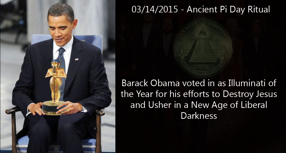 Pi Day 2015 Barack Obama Voted In As Illuminati Of The