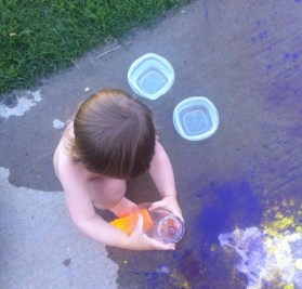 Playing with containers and water