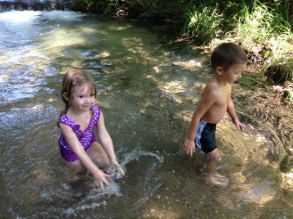 Playing at the Chickasaw Recreation Area