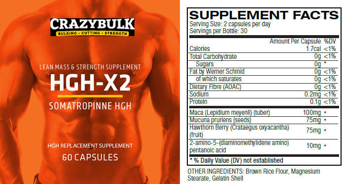 HGH Online for Bodybuilding-Crazy Bulk HGH-X2