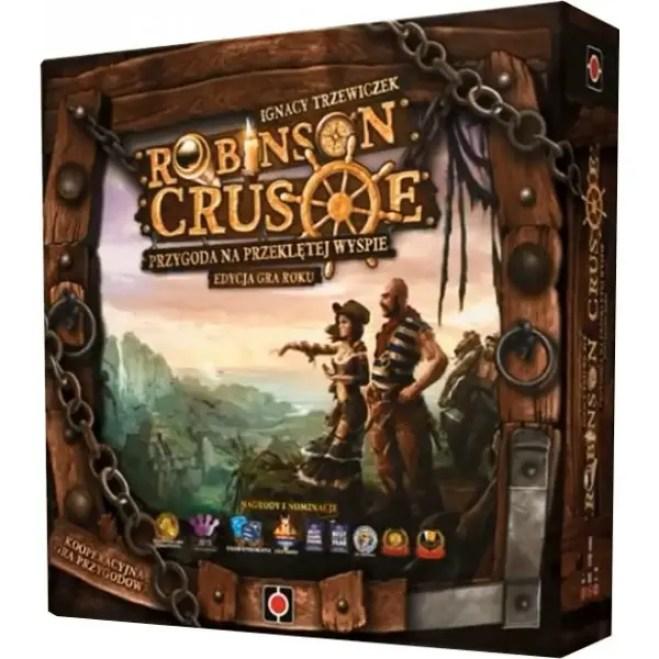 Pudełko gry Robinson Crusoe Przygoda na Przeklętej Wyspie