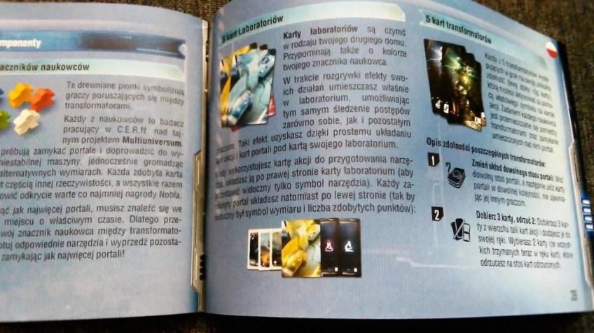 Polska część instrukcji, wyraźny tekst. Cała instrukcja zawiera jasno wyjaśnione zasady gry.