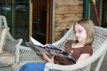 Reading about birds