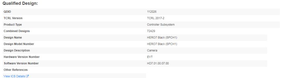 GoPro HERO7 Blackの登録情報2