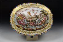 capodimonte cofre siglo XIX decorado querubines y personajes foto 5