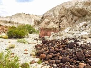 lava rocks at the base of castolon