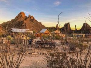 Ten Bits Ranch at sunset