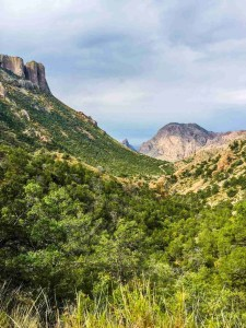View of the chisos basin from lost mine trail