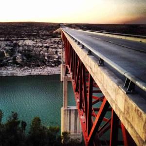 hwy 90 bridge going over the pecos river
