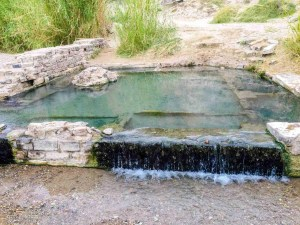 The hot spring at the hot springs district