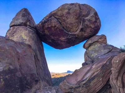 balanced rock grapevine hills hike