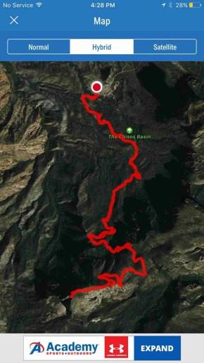 map my run emory peak trail