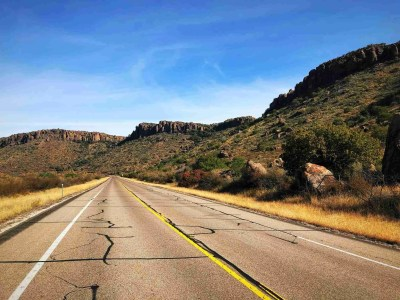 Road from Alpine to Fort Davis