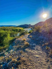 rio grande vista at Hot Springs District at Big Bend National Park