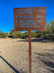 sign at Hot Springs District at Big Bend National Park