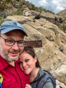 Adam & Stef Brower at Marufa Vega Trail in Big Bend National Park