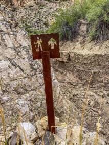 trail sign Marufa Vega Trail in Big Bend National Park