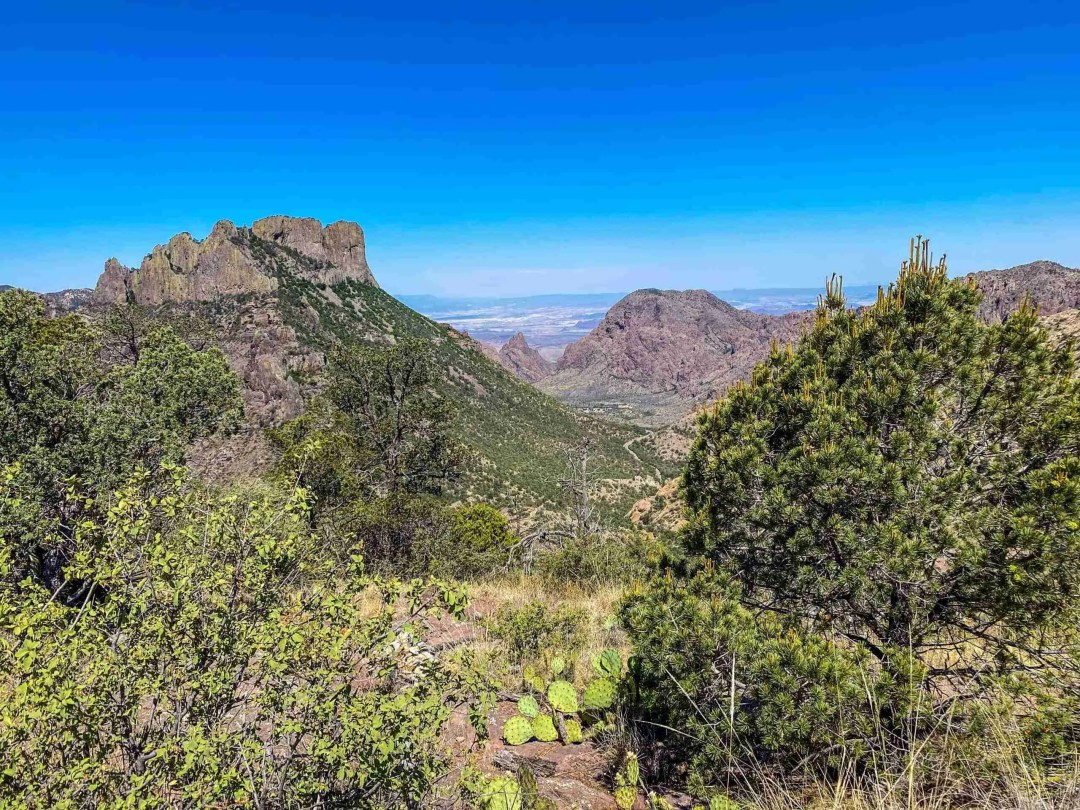 view of the window from big bend lost mine trail