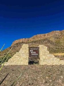 big bend ranch state park sign