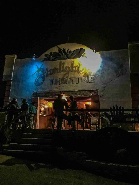 Big Bend Terlingua Starlight Theater at night