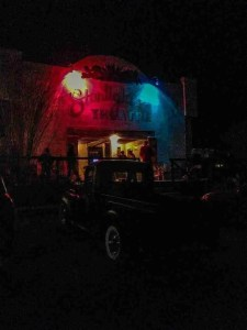 terlingua starlight theatre at night