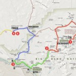 map tour of a day in Big Bend
