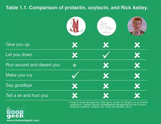 Prolactin and Oxytocin vs Rick Astley