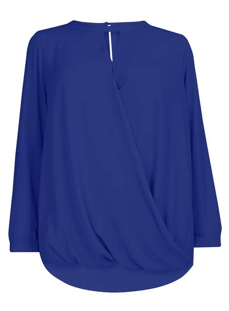 Dorothy Perkins Marine Blue Keyhole Detail Blouse Price: £28.00