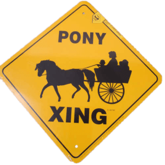 Pony Xing Sign