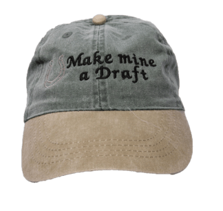 Make Mine A Draft Embroidered Cap