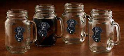 Black Lab Jar Mugs