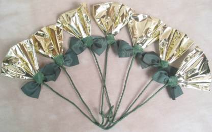 Rosettes Gold & Green