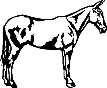 Black Mule Decal