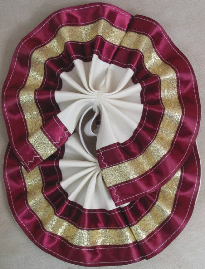 Tail Bow Burgundy & Gold - Metallic