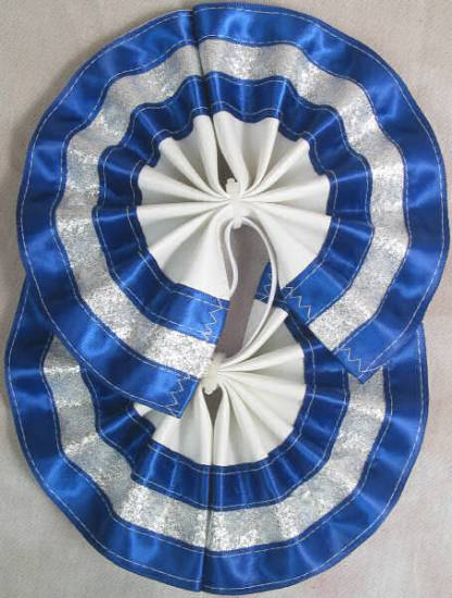 Tail Bow Blue & Silver