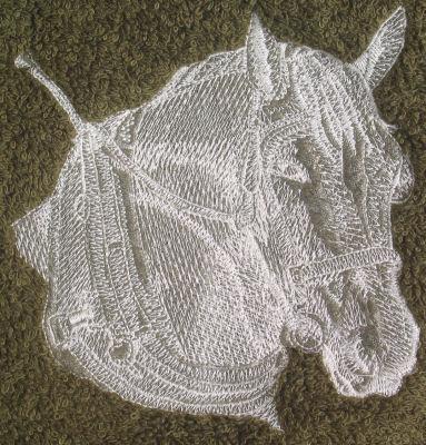 Percheron Draft Horse in Harness Design